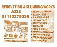 renovation and plumbing 01112275338 taman bunga raya