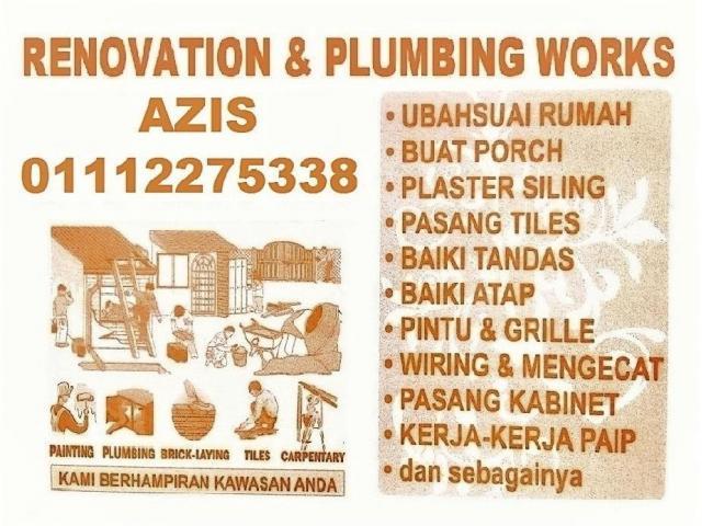 renovation and plumbing 01112275338 gombak setia