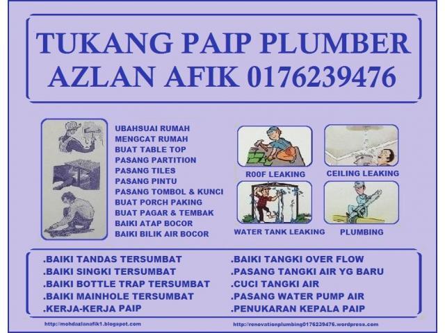 tukang paip plumber 0176239476 taman melawati