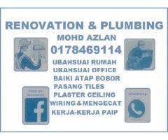 plumbing dan renovation 0178469114 mohd azlan taman melawati
