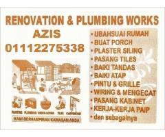 tukang cat rumah dan renovation plumber 01112275338 azis wangsa maju